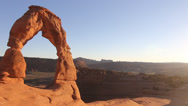 Stock Video Footage of Delicate Arch