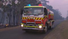 Rural Fire Service back burns during Sydney bush fire PT13 Stock Footage