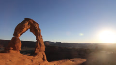 Delicate Arch Sunset Stock Footage