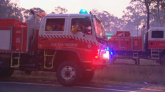 Rural Fire Service back burns during Sydney bush fire PT14 Stock Footage