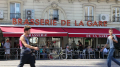Montpellier, South France 9 Stock Footage