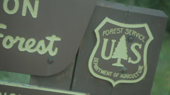 Forest service sign Stock Footage
