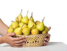 yellow pears - stock photo