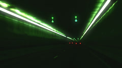 Underground driving tunnel drive surreal Stock Footage