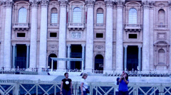 PANORAMIC VIEW Of SAINT PETER'S CHURCH Stock Footage