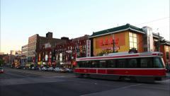China Town Toronto Timelapse 1 (4K) - stock footage