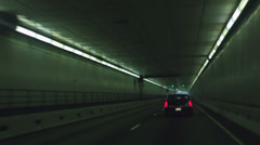 Underground driving tunnel drive Stock Footage