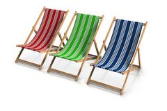 Deck chairs Stock Illustration