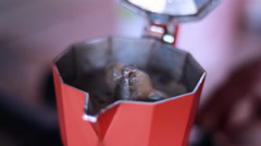 COFFEE MAKED WITH MOKA Stock Footage