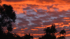 Sultry Outback Sunset Skies 1 Stock Footage