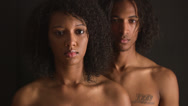 Portrait of young black couple Stock Footage
