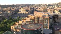 Yerevan Armenia Heliodrom and Republic Square Stock Footage