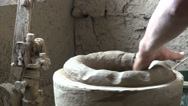 Stock Video Footage of Craftsmanship in pottery factory, ceramics, hand, Uzbekistan, Central Asia