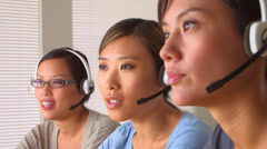 Friendly Chinese customer service - stock footage