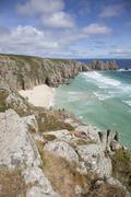 Logan Rock, Treen, Cornwall Stock Photos