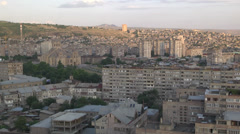 Yerevan Armenia From Top Of The Building Stock Footage