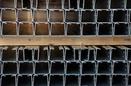 Stock Photo of steel profiles