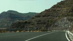 Driving serpentines in Gran Canaria Stock Footage
