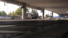 parking shuttle at airport - stock footage