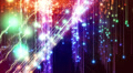 Abstract fantasy motion background, shining lights and particles Footage