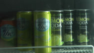 Stock Video Footage of Soft drinks in Bar  refrigerator.