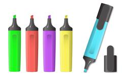 vector image of markers - stock illustration