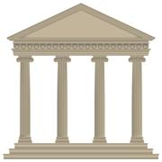 roman/greek temple - stock illustration