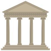 Roman/greek temple Stock Illustration