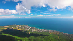 sea and clouds - stock footage