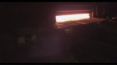 Rail production at the metallurgical plant Stock Footage