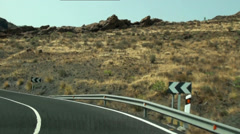 Timelapse driving serpentines in Gran Canaria Stock Footage