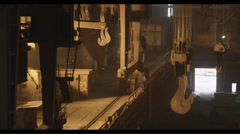 Interior of the metallurgical plant - stock footage