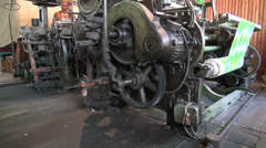 Old silk production machine in Uzbekistan, Central Asia Stock Footage