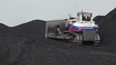 Coal mining in Ulan-Ude, Russia. Stock Footage