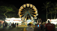 County Fair - Time Lapse  -  4K -  4096x2304 Stock Footage