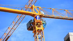 Working crane - stock footage