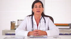 Doctor advising patient on future steps to recovery Stock Footage