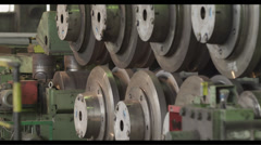 Equipment of metallurgical plant  Stock Footage