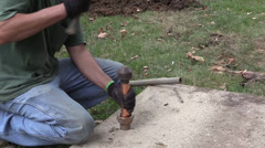 Flaring Copper pipe Stock Footage