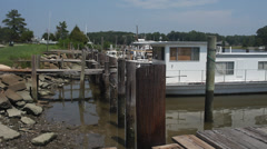 Dockside Boats Stock Footage