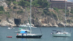 Yachts anchored, Giardini Naxos. Stock Footage