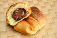 Stock Photo of chocolate croissant