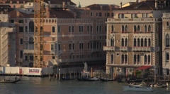 Venice dolly shot, apartments on the lagoon, tight frame Stock Footage