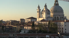 Venice skyline dolly, cathedral and spires Stock Footage