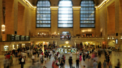 Grand Central Station - Time Lapse -  4K Stock Footage