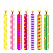 candles - stock illustration