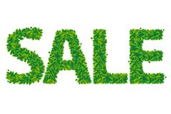 Stock Illustration of sale text with leaves