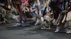Men's Traditional pow wow close up Stock Footage