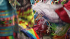 Woman's Fancy Dance Pow Wow close up Stock Footage