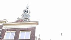 City/church crane shots Stock Footage